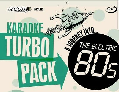 KARAOKE CDG    TURBO PACK  93 ELECTRIC  HITS from 80s    (SET  6 to 10)