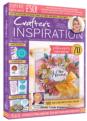 Crafter's Companion CRAFTERS INSPIRATION Issue 23 Magazine + £50 FREE Craft Kit