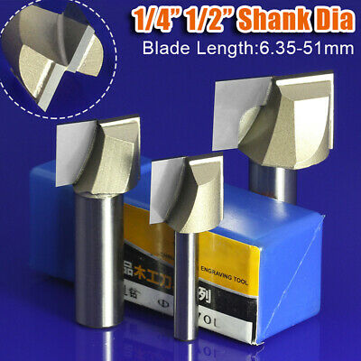 """1/4"""" - 1/2"""" Surface Planing Bottom Cleaning Wood Milling Flat End CNC Router Bit"""