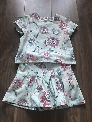 Girls Top And Shorts Set Age 6 Years