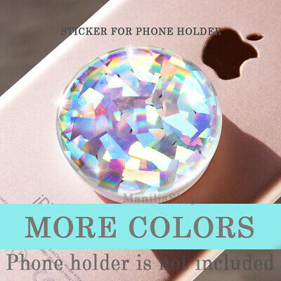Crystal Opal Glitter STICKER made for POP out Grip socket iPhone tablet planner