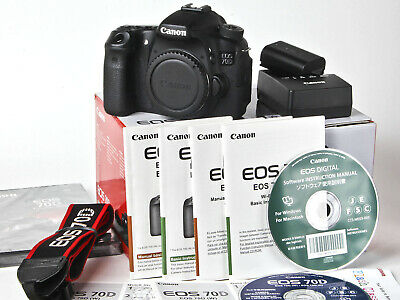 CANON EOS 70D Wifi 20 2MP Digital SLR Camera Black w/Canon EF-S IS
