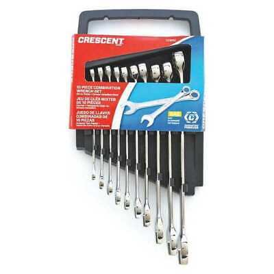 CRESCENT CCWS3 10 Pc. 12 Point Metric Combination Wrench Set