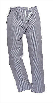 Faithful Small Check Chef Trousers  – Blue or White Colours – XL to 2XL