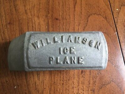 EARLY Antique Cast Iron WILLIAMSON ICE PLANE SHAVER with Blade 1800s 1900s PA