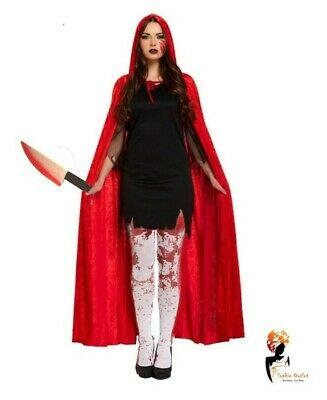 Red Riding Hood Zombie Ladies Halloween Fairytale Horror Womens Adult Costume