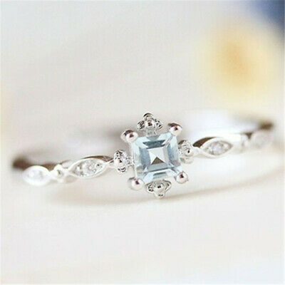 Noble Women 925 Silver White Topaz Infinity Ring Wedding Jewelry Size 6-10