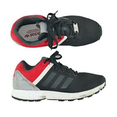 san francisco 76005 9bc61 ADIDAS TORSION ZX Flux Athletic Sneakers Shoes Mens Sz 10 Gym Black Red Gray