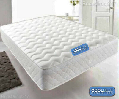 Coolblue Memory Foam Mattress Single Small Double King Size Orthopaedic