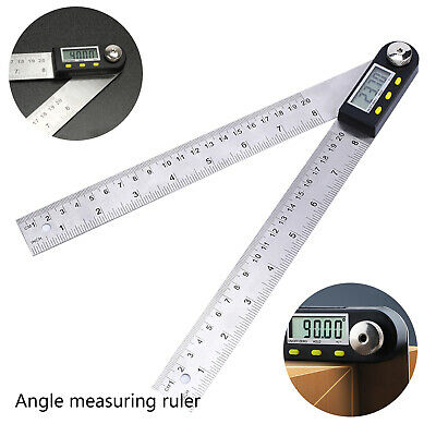 7.87'' 200mm Electronic Digital Protractor Goniometer Angle Finder Miter Gauge