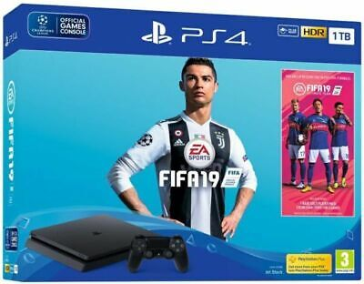 PS4 Slim 1TB Fifa 19 Console Bundle - Fast Postage - Great Condition