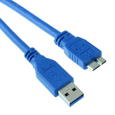 USB 3.0 Type A Male Plug to Micro B USB Cable Lead HDD Hard Drive - 50cm to 5m