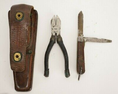 Vintage WW2 US ARMY Signal Corp Pouch Type CS-34 with Tools