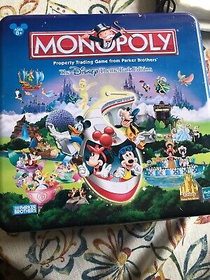 Disney Theme Parks 2002 Special Edition of Monopoly in Collectible Metal Box