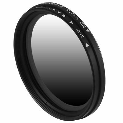 1X(52mm Fader Variable ND Filter Neutral Density ND2 ND4 ND8 ND16 To ND400 N9H2