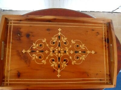 Vintage inlaid marquetry tray