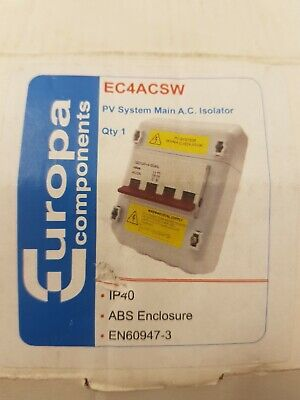 Europa Components P.V System Mains A.C Isolator