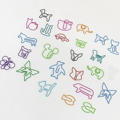 TUTU 30pcs/lot Cute Cartoon Animal Shape Paper Clips Creative Interesting Clip