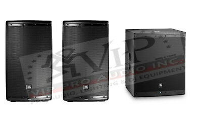 """2x JBL Eon615 Active Powered 15"""" Speaker 1000W + Eon618S 18"""" Amplified Sub -NEW-"""
