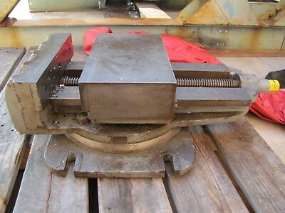 Machinist blacksmith Vise from Steptoe shaper with table + 7 ton cart
