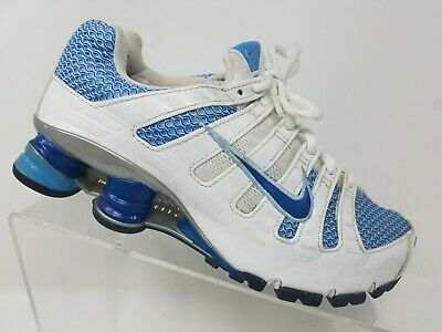 best deals on 29a63 153d0 NIKE SHOX TURBO OH + Womens Running Shoe Size 7 White Blue Training Sneaker