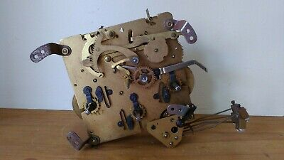 Antique Clock Movement marked UWS for Spares or Repair