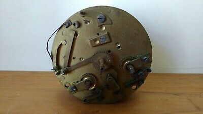 Antique Clock Movement marked Gve Rey Jne A Paris for Spares or Repair