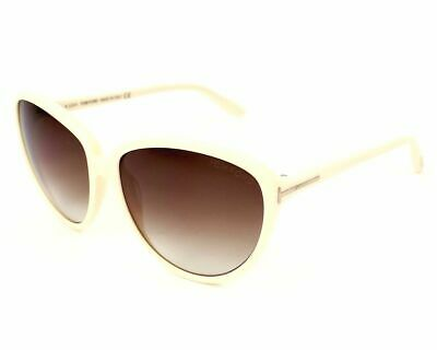 f71ccdf17 Tom Ford Margreth Sunglasses TF203 25F 59MM Cream Frame Brown Lens