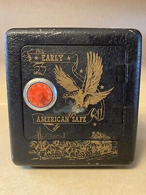Vintage Early American Metal Safe Superior Toy & Mfg Co