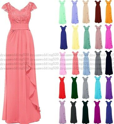 Long Chiffon Wedding Evening Formal Party Gown Ball Bridesmaid Prom Dress 6-30