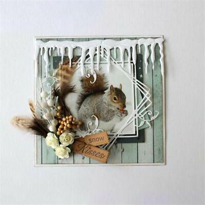Icicle Border Metal Cutting Dies Card Making Scrapbooking Winter Stencil Decor