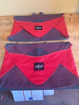 """Lot Of Two Eagle Creek Pack-it Folder Red/Grey. 18""""X 12"""" Pre-Owned"""
