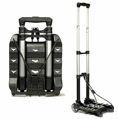 RMS Folding Luggage Cart - Lightweight Aluminum Hand Truck with Wheels - Coll...