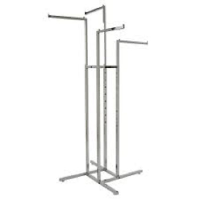 4 Way Clothing Rack - Straight Arms - New