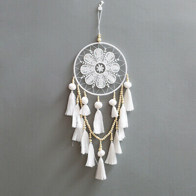 Large White Dream Catcher Tassel Wall Hanging Decoration Ornament Living Room US
