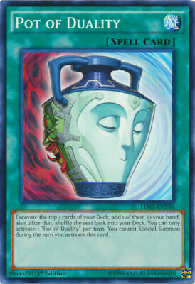 Yugioh Pot of Duality - LDK2-ENY34 - Common - 1st Edition NM Near Mint