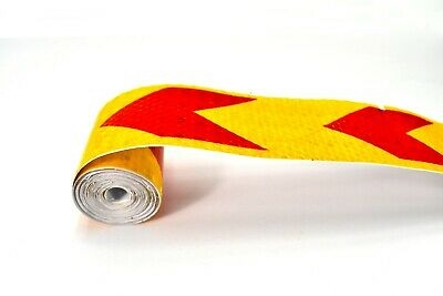 """1 Roll 2/"""" x 120/"""" Glossy Reflective Sticker Safety Warning Tape Reflector Decal"""