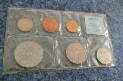 NZ 1968 Uncirculated Mint coin Set containing 6-coins