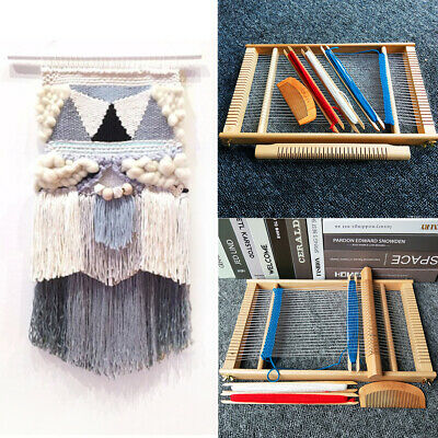 AU Elm Looms Wooden Tapestry Hand-Knitted Machine DIY Woven Set Weaving Loom Kit