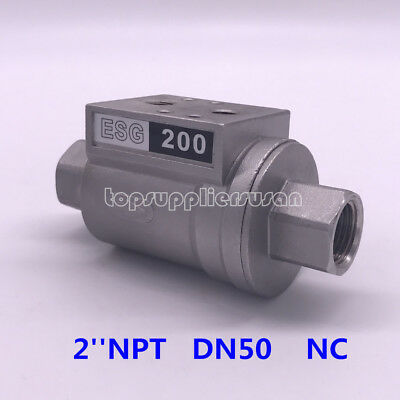 2'' DN50 Pneumatic Shuttle Valve NC For Beer Filling Machinery ESG 200