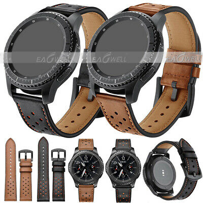 US Universal Retro Genuine Leather Wrist Watch Band Strap Quick Release 20 22mm