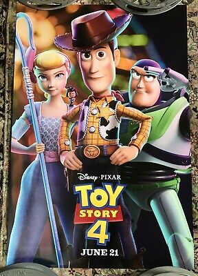 Authentic TOY STORY 4 27 x 40 D/S Movie Theater Poster DISNEY Pixar Back-Lit USA