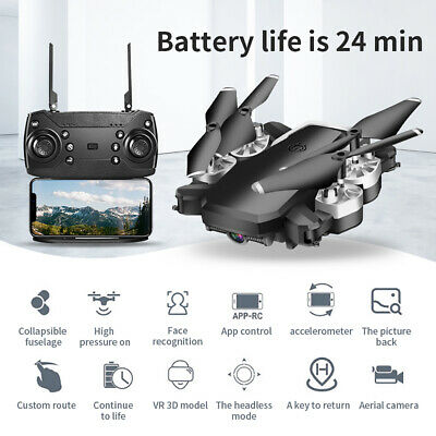 WIFI Drone Selfie FPV GPS With 1080P HD Camera Foldable RC Aircraft Quadcopter