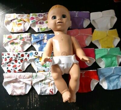 Homemade Baby Luvabella Doll Nappy - 16 Pattern Choices