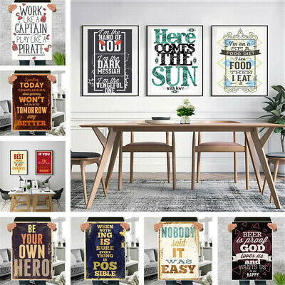Art Posters Personalised Photo Letter Canvas Print Custom Home Room Wall Decor