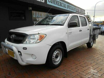 2007 Toyota Hilux GGN15R 07 Upgrade SR White Automatic 5sp A Dual Cab Pick-up