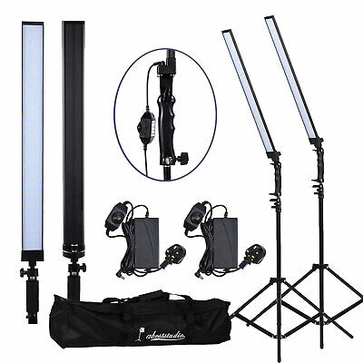 2x 30W LED Photography Studio Softbox Strip Soft light Continuous Lighting Kit