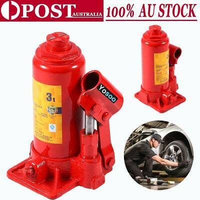 Portable Top Quality Red Hydraulic Bottle Jack Car Truck Caravan SUV 4WD 3 8 Ton