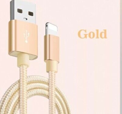 3m Braided USB Lightning Cable Cord Data for Apple Charger iPhone X 8 7 5 6
