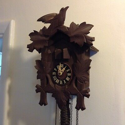 Vintage Black Forest Cuckoo Clocks X2 For Repairs Spares Good Lots